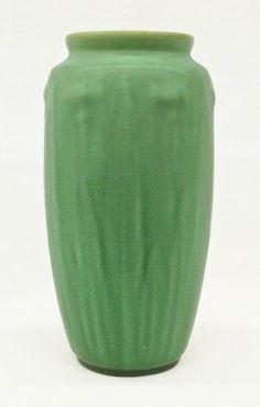 Teco Form 60B Green Floral Art Pottery Vase : Lot 258