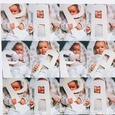 Liebevolles Geschenk für Papa. Buchstaben ausschneiden, anmalen und los geht die Fotoaktion. Funktioniert auch super für Oma und Opa. Mehr Ideen unter www.kopfkonzert.com