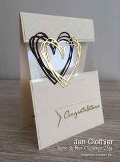 karten ideen Yow will discover nice ceremony concepts and ceremony playing cards a Love Cards, Diy Cards, Step Cards, Die Cut Cards, Pretty Cards, Acetate Cards, Wedding Congratulations Card, Wedding Cards Handmade, Handmade Engagement Cards