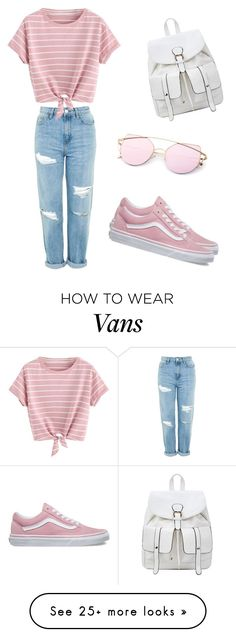 """Untitled #12"" by cayleed-1 on Polyvore featuring Topshop, Vans and MyFaveTshirt"
