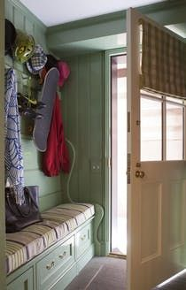 Mudroom, Greenwich Village Townhouse  Mudroom  American  TraditionalNeoclassical  Eclectic  Transitional by Fairfax & Sammons