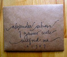 envelope #calligraphy. address