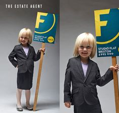 LADYLAND TERRORS OF LONDON - Kids halloween costumes - The Estate Agent... argh! www.thisisladyland.com Photographer: Dee Ramadan Art Director: Emma Scott-Child