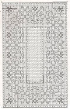 This Pin was discovered by gül Cross Stitch Borders, Cross Stitching, Cross Stitch Patterns, Crochet Tablecloth, Crochet Doilies, Thread Crochet, Crochet Stitches, Boy Crochet Patterns, Filet Crochet Charts