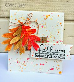 Expresstions of me! Scrapbooking, Scrapbook Cards, Halloween Cards, Fall Halloween, Silhouette Cameo, Art Carte, Leaf Cards, Thanksgiving Cards, Fall Cards