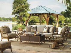 Inspirations best of sample outdoor patio design for your ideas stunning tommy bahama outdoor furniture ideas backyard patio lake view with rustic tropical design inspiration