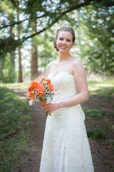 Orange Rustic Wedding Bouquet.