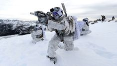 militaryarmament: United States Navy Promotional shots of Navy SEALs during arctic mountain warfare.