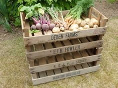 4 VINTAGE ANTIQUE RUSTIC WOODEN FARM TRAY APPLE CRATE POTATO CHITTING BUSHEL BOX (£23 for 4 crates incl. delivery)