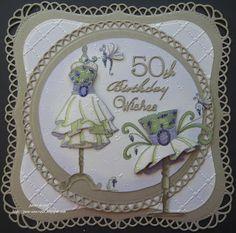 pamscrafts: 50th birthday cards
