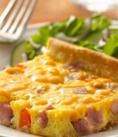 Ham and Egg Crescent Bake - foolproof egg bake with a flaky Crescent crust -- ready in only 30 minutes