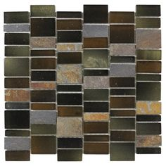 Elida Ceramica Monarch Rain Forest Glass Mosaic Indoor/Outdoor Wall Tile (Common: 12-in x 12-in; Actual: 11.25-in x 11.75-in)