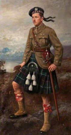 Captain Allan Ogg (1938–1943) by John McGhie.  Royal Highland Fusiliers Museum.