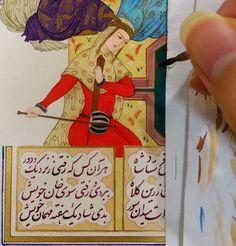 #painting #iranian_art #iranian_painting #مینیاتور_ایرانی # نگارگری #قلم_گیری #گل_و_مرغ # Playing Cards, Cover, Books, Art, Livros, Craft Art, Playing Card Games, Book, Slipcovers