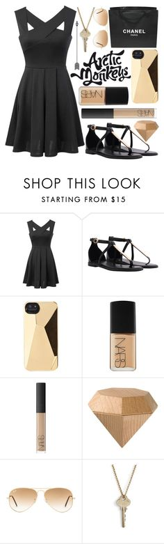 """""""i'm janet snakehole"""" by supertapwoman ❤ liked on Polyvore featuring Chanel, Marc by Marc Jacobs, NARS Cosmetics, Areaware, Ray-Ban, The Giving Keys and carolinessimplesets"""