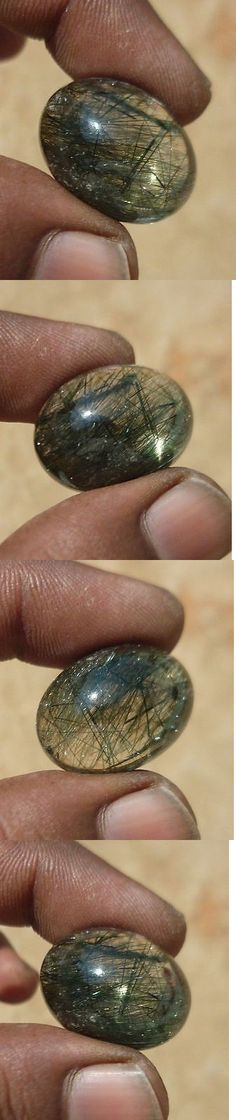 Rutilated Quartz 181099: 44.40 Ct Natural Green Rutilated Quartz Oval Cabochon Loose Gemstones -> BUY IT NOW ONLY: $32.99 on eBay!