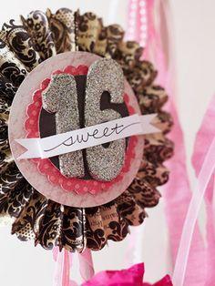 DIY Sweet 16 Birthday decoration for the birthday girl - #sweetsixteen #birthday #party