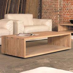 Oak Cube Coffee Table