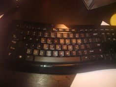 The person who will soon owe his roommate a new keyboard: