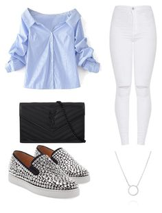 """""""Untitled #98"""" by boturovic-kristina on Polyvore featuring WithChic, Yves Saint Laurent and Christian Louboutin"""