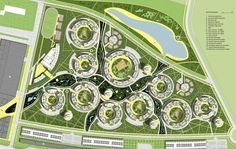 Circles on water Architecture Concept Diagram, Landscape Architecture Design, Landscape Plans, Architecture Plan, Urban Design Plan, Plan Design, Site Plans, Master Plan, Urban Planning