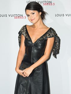 Star Tracks: Monday, September 21, 2015 | PRETTY PUNK | On Saturday, Selena Gomez stuns in a black leather dress at the Louis Vuitton Series 3 launch during London Fashion Week.