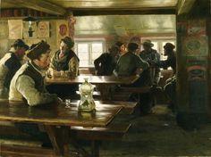 The Athenaeum - Interior of a Tavern (Peder Severin Kroyer - )