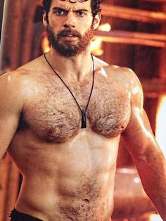 I don't pin a lot of shirtless guys, but.......the beard, the hair, the angry face.......rawr.