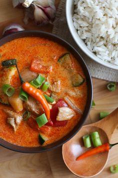 Curry rojo de pollo y verduras (estilo thai) - El Sabor de lo Bueno