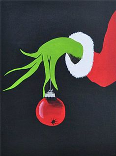 Christmas Grinch Painting | Art | How The Grinch Stole Christmas. #etsy