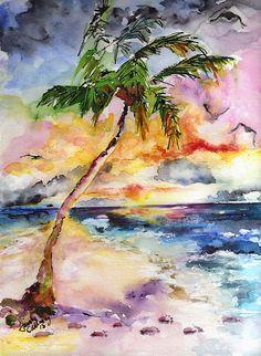 #Tropical #Beach #Palm an Ocean Paradise