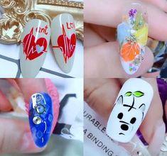 Nail Art Blog, Nail Art Hacks, Gel Nail Art, Nail Art Diy, Easy Nail Art, Nail Polish, Diy Nails, Nail Art Designs Videos, Nail Art Videos