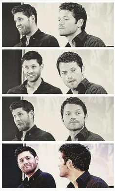Jensen Ackles and Misha Collins.. these people make me want to start watching supernatural