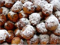 Oliebollen - fried dough, Netherlands