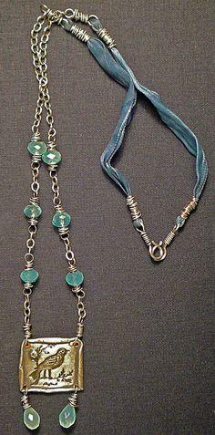 Ribbon chain - nina bagley I love how the closure is made!!