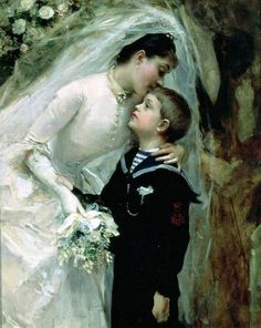 La Boda by Raimundo de Madrazo Y Garreta Hand Painted Oil Painting is part of Famous painting Aesthetic - Raimundo de Madrazo Y Garreta La Boda hand painted oil painting reproduction on canvas by artist Spanish Painters, Spanish Artists, Illustrations, Illustration Art, Wedding Illustration, Wedding Art, Bouquet Wedding, Wedding Nails, Wedding Things