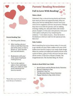 February Parent Reading Newsletter