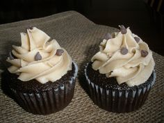 Chocolate cupcake with peanut-butter buttercreme