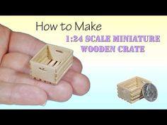 DIY How to Make Miniature Wooden Crate Tutorial - YouTube