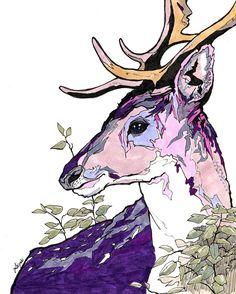 #illustration #artist #art #drawing #artwork #deer #animal #sketch #イラスト #アート