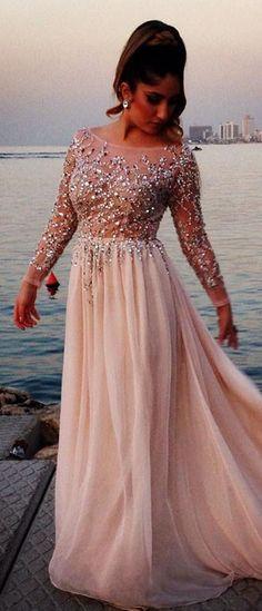 High Quality Long Sleeve Prom Dress Sexy Prom Dress A-LINE EveNing dresses Chiffon Applique Homecoming Dress PROM DRESS LONG DRESSES A-Line DRESSES PARTY DRESSES
