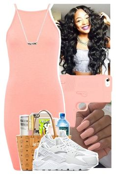 """""""g0lden✨"""" by daeethakidd ❤ liked on Polyvore featuring Miss Selfridge and NIKE"""