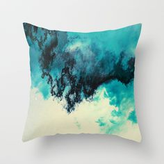 Painted Clouds V Throw Pillow by Caleb Troy | Society6
