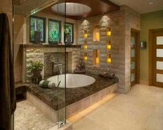 I would need stairs to this bathtub.  Picture being naked and trying to crawl into this thing...and not spill your wine.