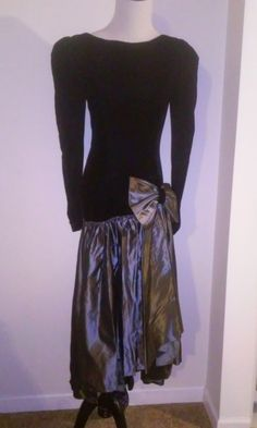 VTG 1980's Prom Dress with Fish Tail Size 8 Cosplay #uknown