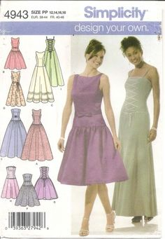 Fancy  Sewing Pattern Ladies Bustier Style Dress Wedding Bridal click picture to enlarge click picture to enlarge click picture to enlarge Thank you