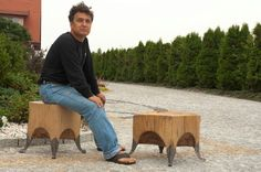 Wooden seat - hand made from one peace of wood