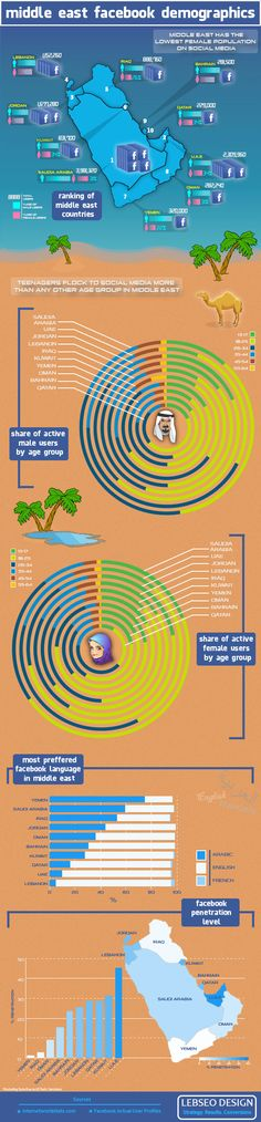 Middle Eastern Facebook Demographics in an Infographic
