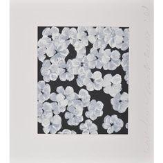 DONALD SULTAN-WHITE PEONY (WALL FLOWERS)-POPARTGALERIEFLUEGELRONCAKNUREMBERG