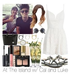 """At The Island w/ Cal and Luke"" by ana-a-m ❤ liked on Polyvore featuring Zimmermann, River Island, Margarita, NARS Cosmetics, Avon, MICHAEL Michael Kors, FOSSIL and Fantas-Eyes"